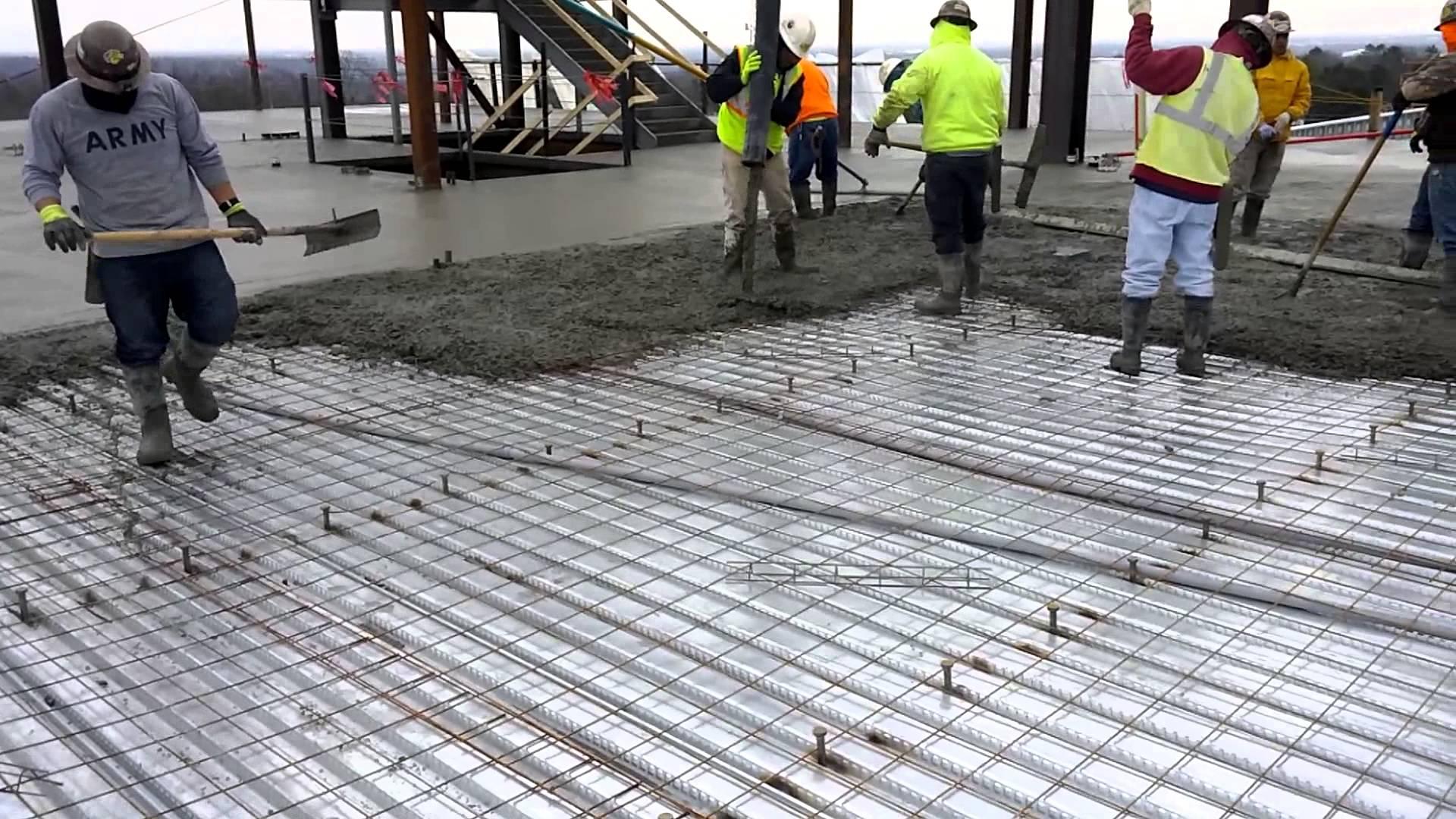 The perfect pour how to pour concrete a enterprises for Pour a floor