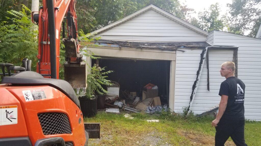Garage Demolition in Scranton