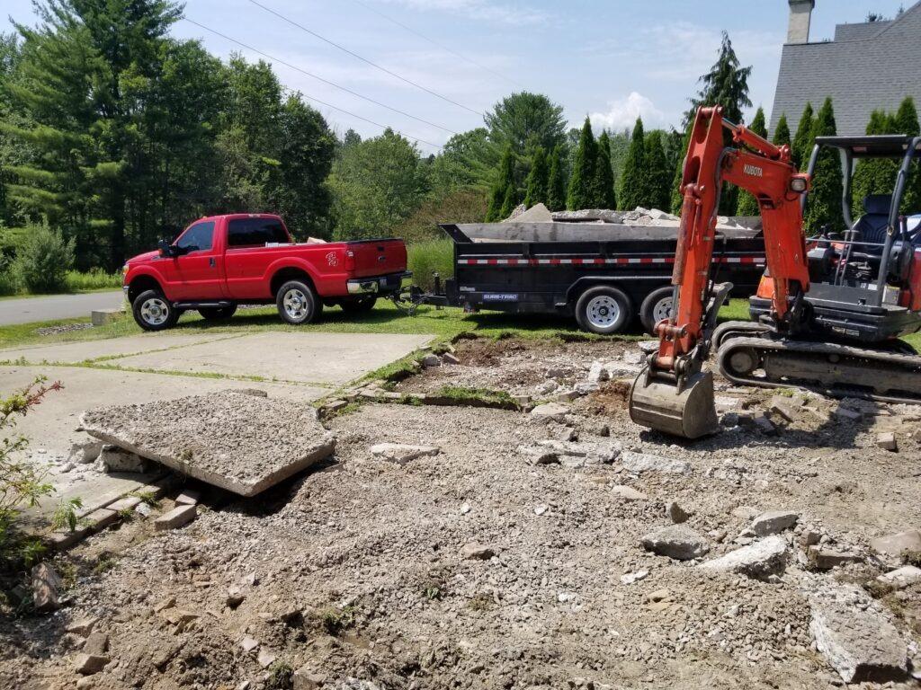 Driveway demolition Wilkes-Barre
