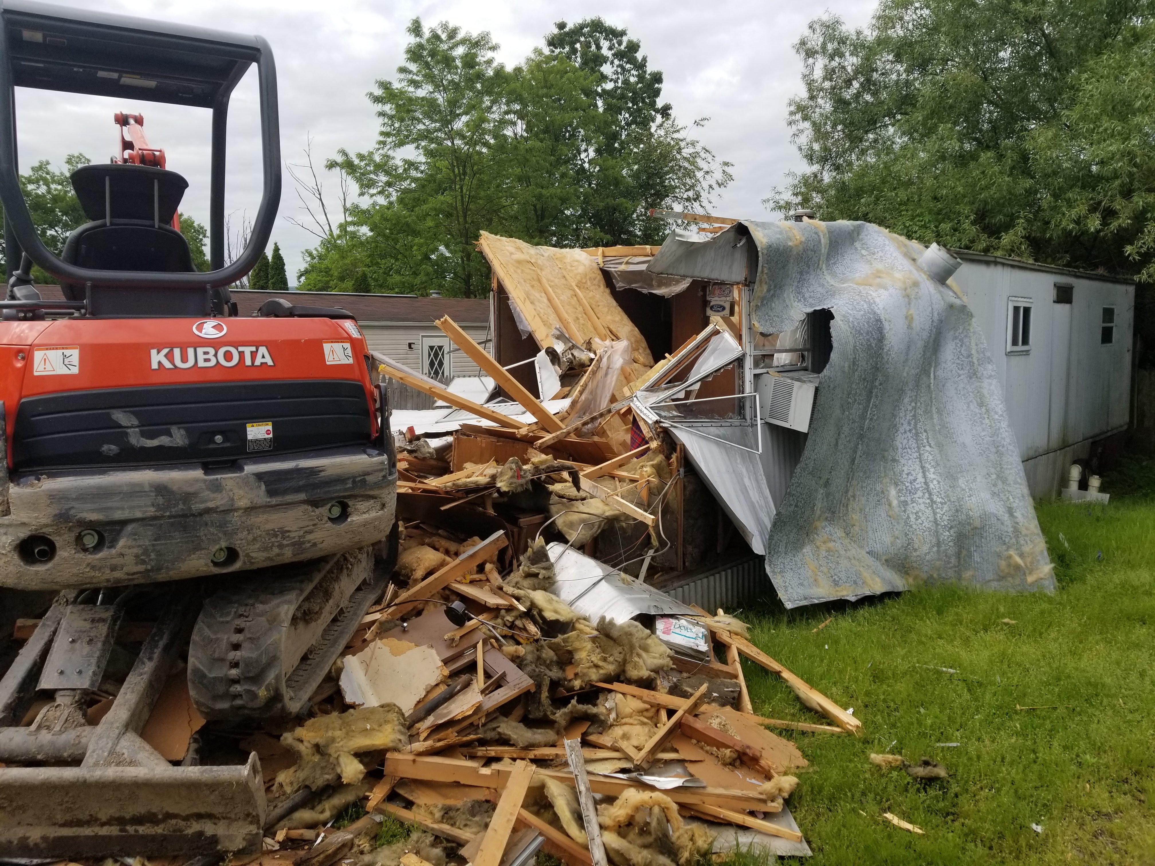 Scranton, PA Mobile Home Demolition