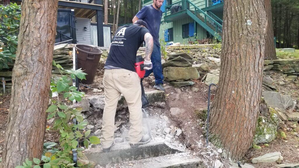 Concrete Steps Demolition Wilkes-Barre