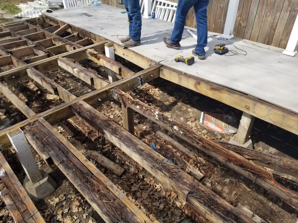 porch and deck demolition removal scranton pa wilkes-barre pa