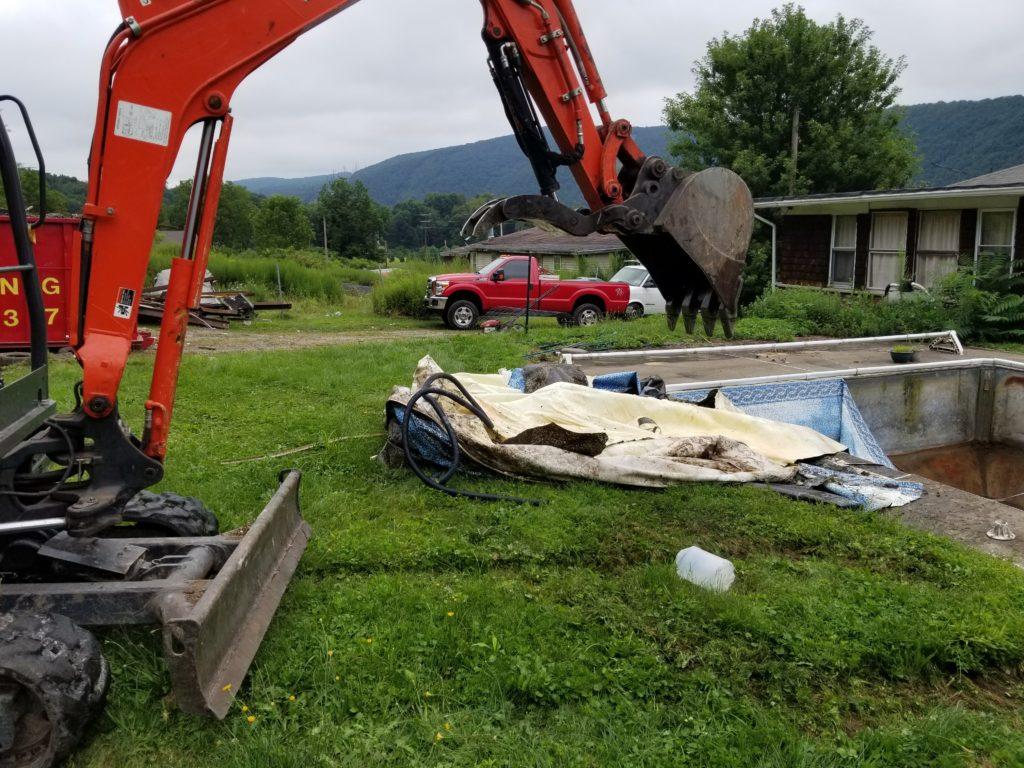 Pool Demolition contractor Scranton, PA Wilkes-Barre, PA